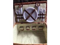 Picnic hamper with cutlery and plates £5.00!!