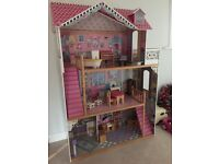 Early learning centre dolls house and furniture