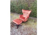 G plan 62 swivel chair with matching stool