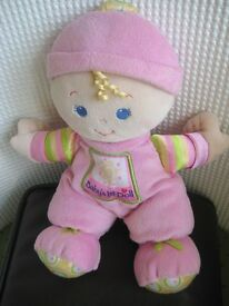 Baby's 1st Doll with Rattle Inside and Despicable ME2 Soft Toy - £2.00 each or 2 for £3.00