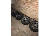 Set of 4 Chrome Fox Alloy Wheels with Tyres