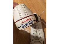 Converse white leather size 6