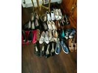 20 pairs of ladies shoes size 7 and 8