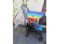 Maclaren Volo Special Edition - Dylans Candy Bar - Rainbow Pushchair Pram