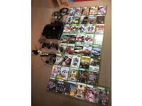 XBOX 360 SLIM 250 GB console + XBOX KINECT+ 41 GAMES+ EXTRAS