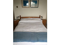 Double bed - pine, sturdy