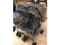 Combi double twin pushchair pram, 2x footmufff and rain cover