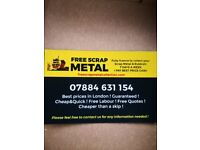 SCRAP METAL WANTED FREE COLLECTION 24/7 ALL LONDON