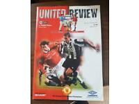 Man Utd vs Crystal palace 1997 programme