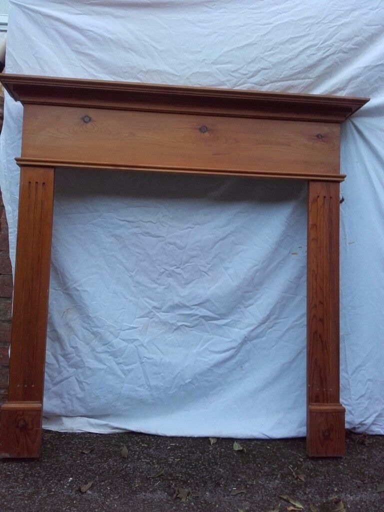 Pine wood fire surround 114.5 x 112 cm, used but in very good condition