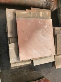 2 pallets of reclaimed sandstone flags