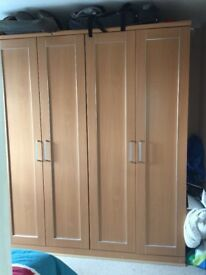 Wardrobes Double very good condition