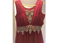 DEEP PINK WITH SILVER WORK - UK ADULT SIZE MEDIUM (8-10)