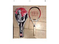 Roger Federer titanium double beam, Wilson Tennis Racket, Grand Slam Racket. In perfect condition,