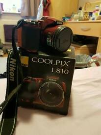 Nikon coolpix L810 - great condition, would be perfect for Christmas!