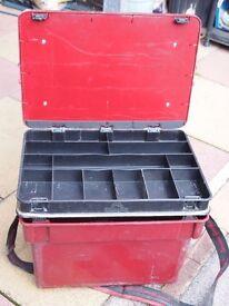 Fishing kit Box, wooden reel box and tackle box