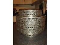Beautiful Moroccan style metal patterned light shade.Cost £28 new, just asking £8