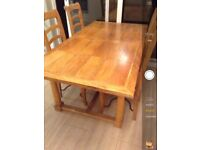6ft dining table and 6 chairs. Excellent condition. Can deliver local