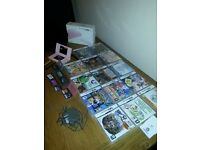 ds lite pink with lots of games