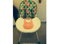 Mothercare High chair with free bib!
