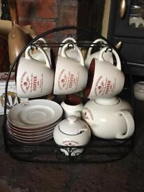 Beautiful country kitchen tea set