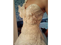 Eternity Bride - size 10 corset fasten ivory weding gown - £250 or open to offers