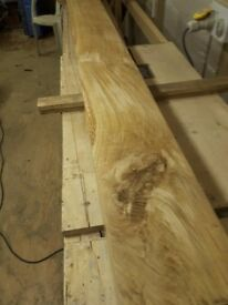 SOLID ENGLISH OAK BEAM SANDED FINISH AND WAXED