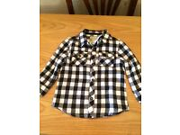 Boys Black and white shirt 12-18months new with tags