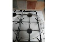 Microwave glass round turntable and metal racks.