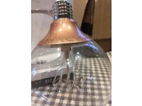 Ikea Ceiling hanging bronze clear bowl light with element type bulb