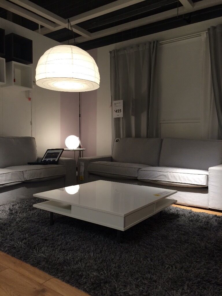 Ikea Coffee Table Tofteryd High Gloss White 95x95cm 90 In  # Tofteryd Meuble Tv