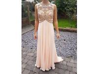 Prom/Evening Dress,Peach, Size 6 (XXS)