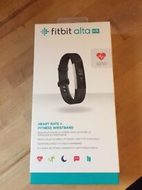 Fit bit Alta HR. Used twice, records steps,distance,calories,active mins & heart rate