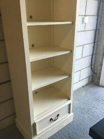 Lovely cream painted shelving/bookcase