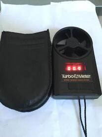 Davis instruments Turbo meter wind speed indicator and leather case