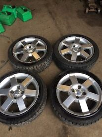 ford ka sport alloy wheels with 4 excellent tyres