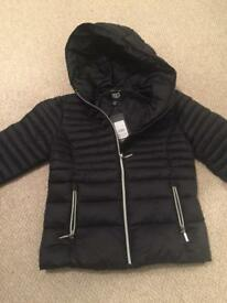 Black new look coat Age 9-brand New with tags