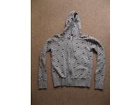 Grey H&M Hoodie with Star Pattern