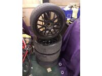 "18"" alloys with tyres, 5x 108. Fits Ford and Volvo alloy wheels (focus, Mondeo, jaguar, etc)"