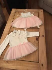 6/9 months 4 girls dresses. £10