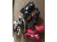 Assorted collection of Clarks shoes. Size 5