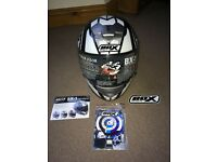 Box Motorcycle Helmet. As new condition. Motorcycle/moped. Used twice, tags included. Size Small