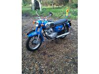 honda cd 175 1971 blue