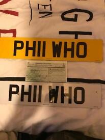 Phil Who private numberplate Phillip Phil PHIL PHILLIP