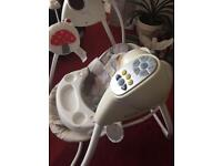 Graco baby musical swing in clean and good condition