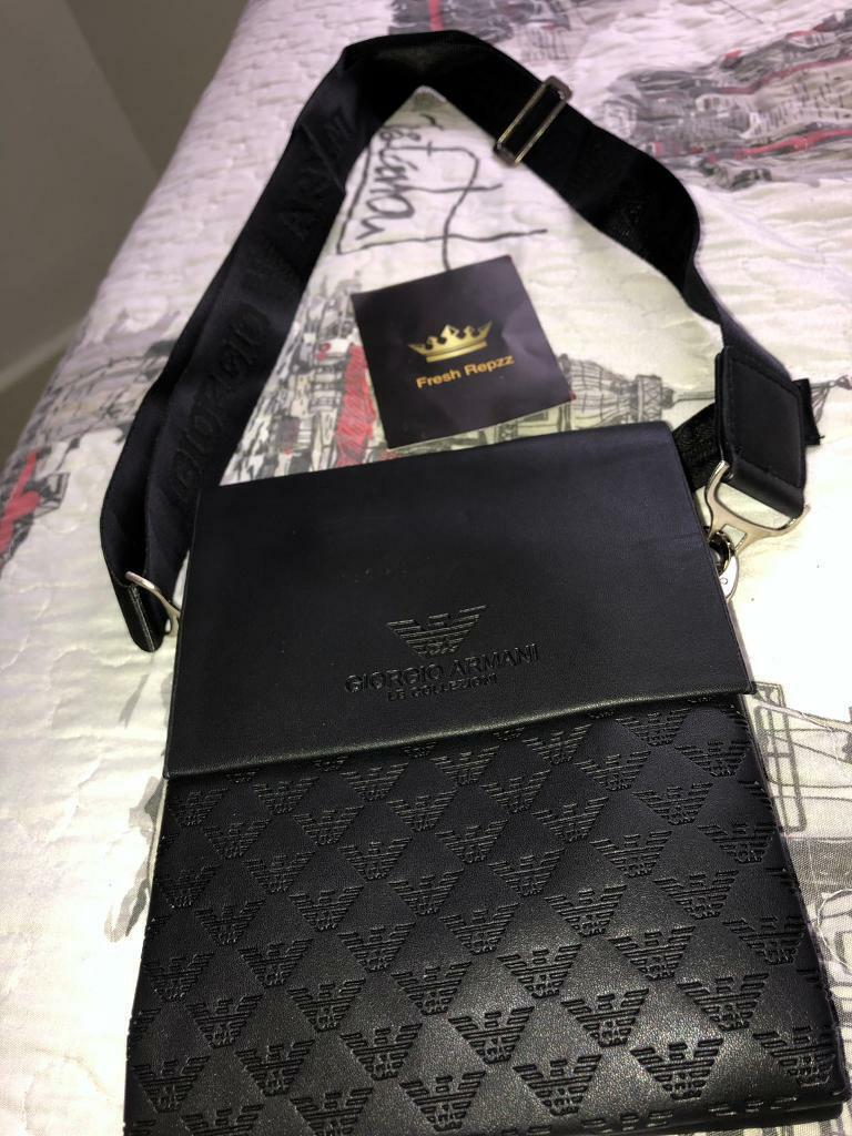 a4d465707a Armani Man Bag Black Leather | in Liverpool City Centre, Merseyside |  Gumtree