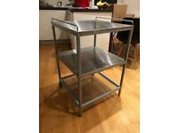 IKEA UDDEN Stainless Steel Kitchen Trolley for sale