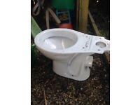 White toilet pan