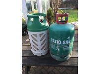 3 x garden gas bottles