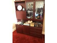 New Electric leather recliner Lounge furniture console table TV stand display unit drawers bookcase